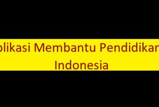Aplikasi Membantu Pendidikan di Indonesia